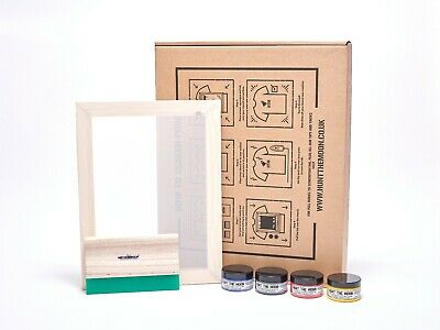Hunt-the-moon Screenprinting Kit - Frame Squeegee Ink Just Add Inspiration