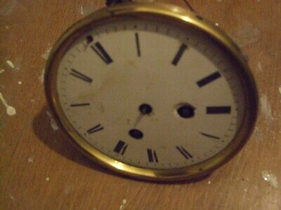 ANTIQUE FRENCH MANTEL OR CARRIAGE CLOCK BRASS MECHANISM IN WORKING ORDER, C.1860
