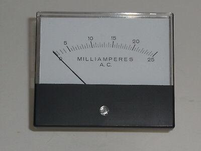 Vintage Nib Hoyt 2035 Analog Panel Meter 0 To 25 Ac Milliamperes 3 X 3 12 Inch