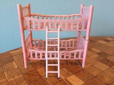 Bett Etagenbett Oskar? rosa Puppenstube Puppenhaus 1: 12  dollhouse bunk beds ()