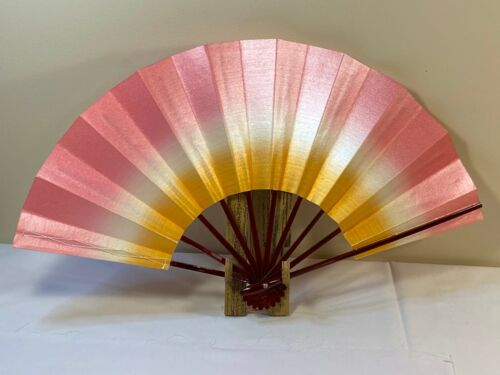 Japanese Odori Dance Sensu Folding Rainbow Like Made in Japan