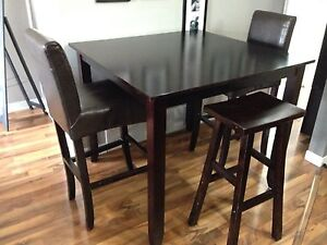Pub style dining table and chairs!