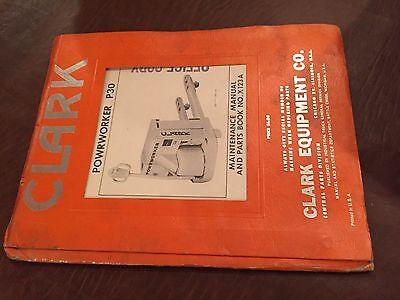 Clark Forklift P30 Powrworker Parts Maintenance Operators Manual