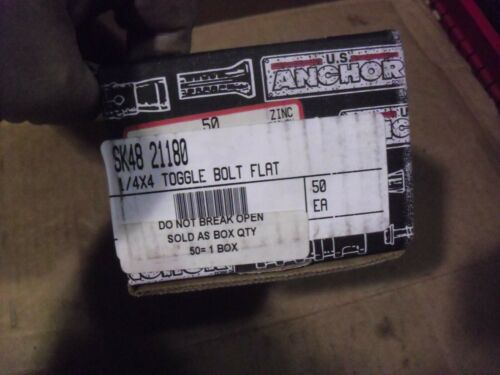 """FIFTY !! U.S. Anchor 1/4"""" x 4"""" Toggle Bolts"""