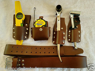 Scaffolding 5Pcs Thick Leather ToolSet Belt With 4 PcsGood Tool Set