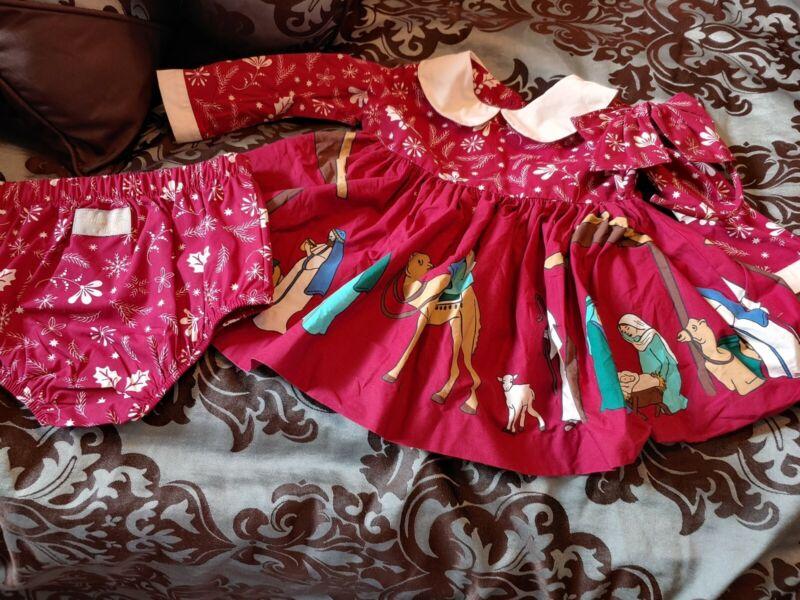 Eleanor Rose Nativity Burgandy 12 Months 3pc
