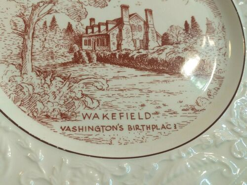 Adam Antique By Steubenville Collector Plate Wakefield Washington's Birthplace