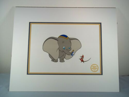 Walt Disney Limited Edition Dumbo Serigraph Cel w/ Certification Label