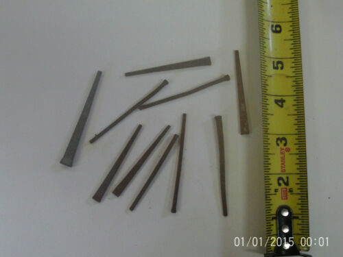 Lot of 15 8d vintage Hand Forged/Cut Steel nails