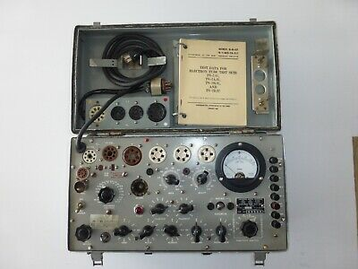 Vintage Military Tv-7cu Electron Vacuum Tube Tester Wadapter.