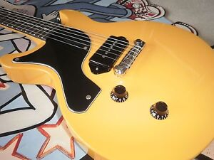 LEFT HANDED ANTORIA Guitar New Yorker Les Paul Junior Yellow With H/D Carrry Bag