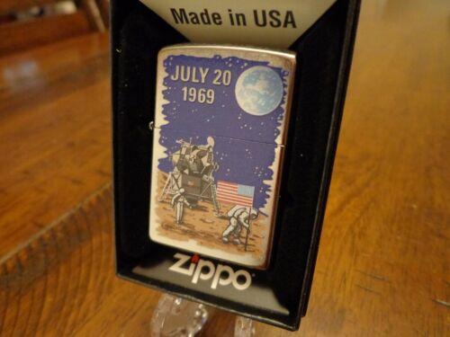 APOLLO 11 1969 MOON LANDING 50TH ANNIVERSARY REMAKE ZIPPO LIGHTER MINT 2019