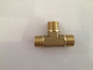 4-pcs-3-Ways-1-4-BSP-Tee-male-brass-coupler-adapter