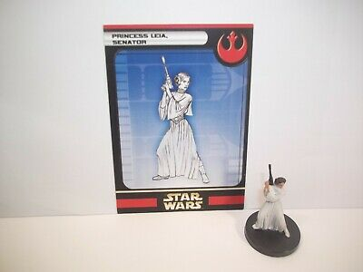 Star Wars Miniatures - Princess Leia, Senator 13/60 + Card - Rare - Rebel Storm