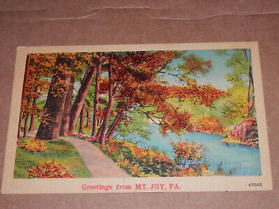 Mount Joy Pa   Old Postcard   Lancaster County   Rheems   Marietta   Salunga