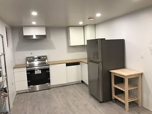 BRAND NEW 1 Bed/1 Bath in 2 bed/2 bath 1000 sf. Basement Suite