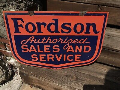 ford tractor Double Sided Porcelain Sign
