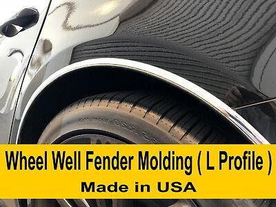 Fit 2002-2018 MERCEDES Chrome L-SHAPE Wheel Well Fender Trim Molding Kit 4PCS