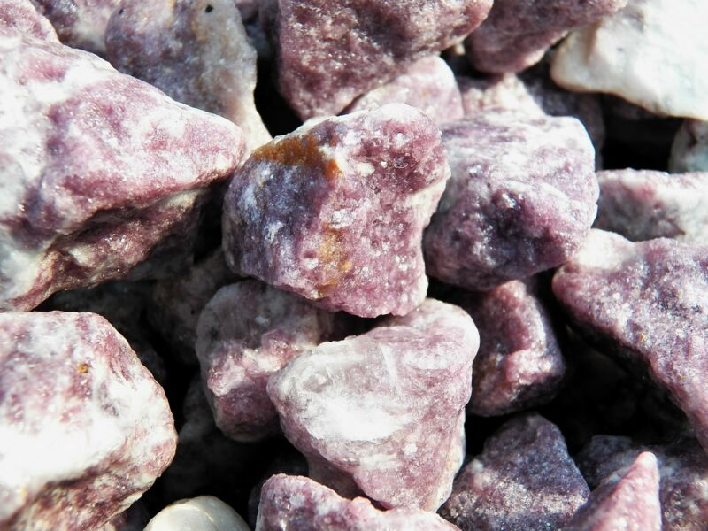 2000 Carat Lots of Lepidolite Rough - Plus a FREE Faceted Gemstone