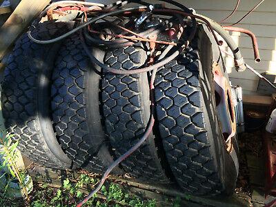 11.00r20 Goodyear G124 Truck Tires On 20x8 10 Hole Buds Wheels Rims 11r20 Good