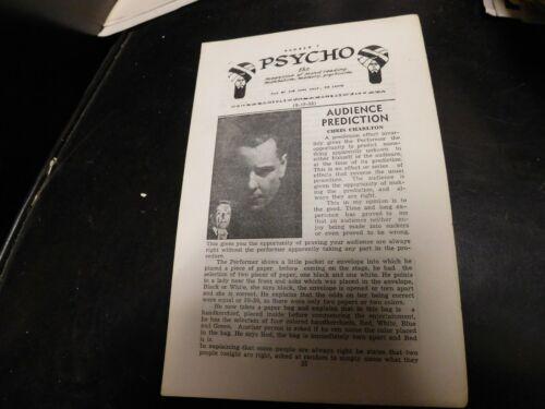 Psycho Magazine Of Magic, Mentalism, Memory August 15, 1953 Chris Charlton