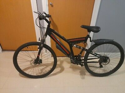 mountain bike, unbranded, black, small mens, second hand, 7 gears needs work