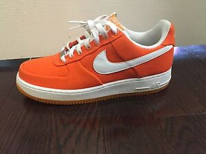 Orange and White Air Force 1