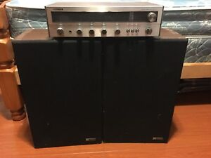Vintage Fisher receiver and pair of speakers
