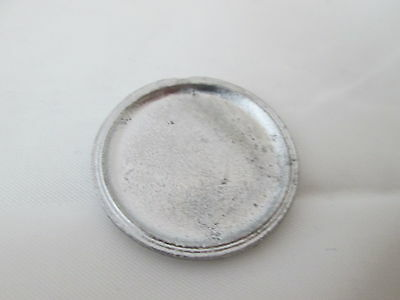 Dollhouse Miniature Unfinished metal Large Pizza Pan