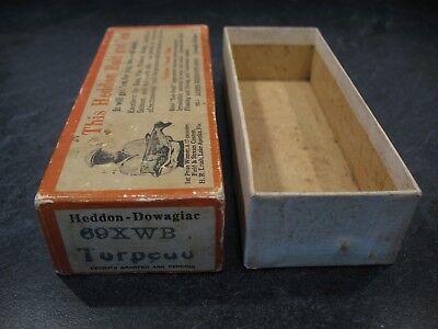 HEDDON 69XWB BRUSH BOX (only) TORPEDO WHITE & BLACK SHORE Fishing Lure Reel CCBC