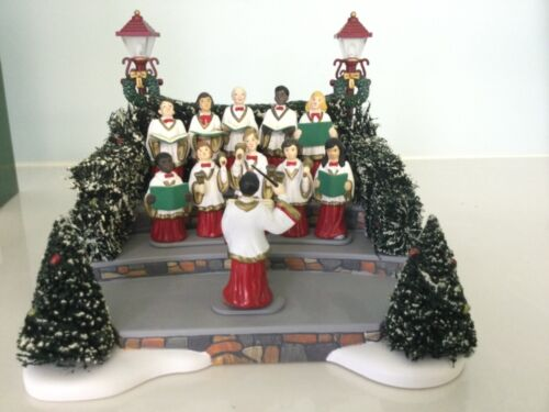 Dept 56 Village Animated/Musical Holiday Singers #52505 Retired w/Box Free Ship!