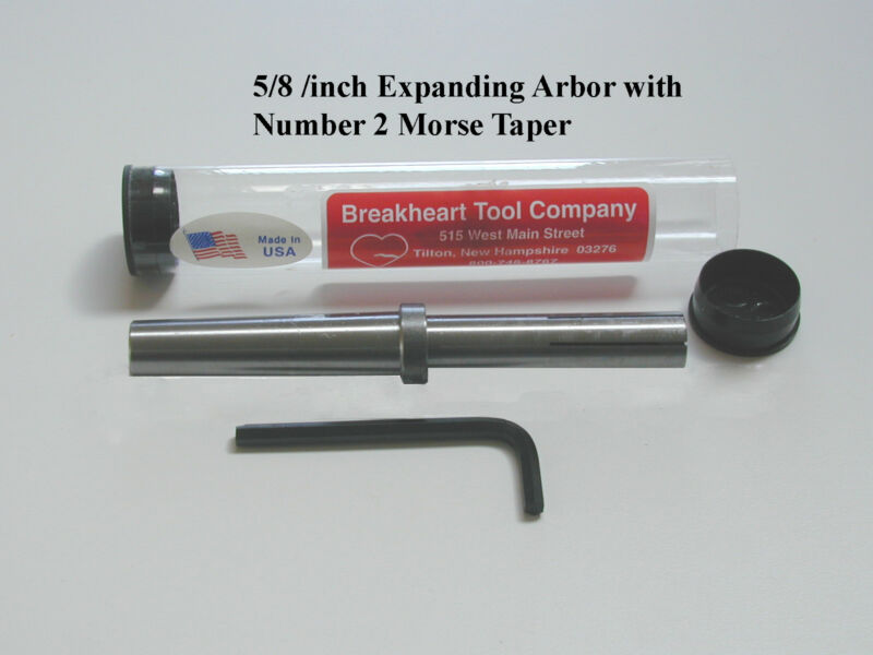 5/8 inch Expanding (Mandrel) Arbor with # 2 Morse Taper Shank -  American Made