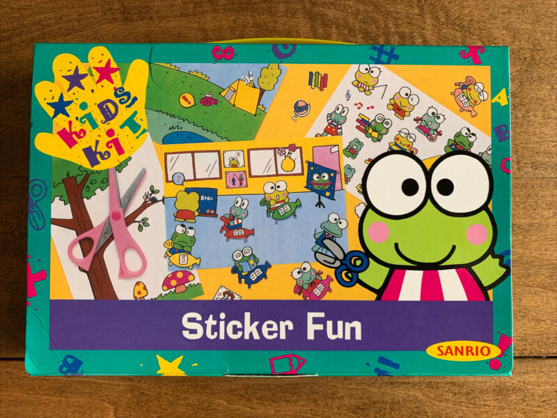 1996 Kero Keroppi Sticker Fun Kids Kit Sanrio NEW