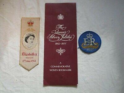 Queen Elizabeth II Coronation & Jubilee Bookmarks Badge Leek Coventry