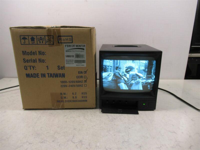 Speco Technologies VM901B 9 Inch CRT Monitor Black White Monochrome NOS