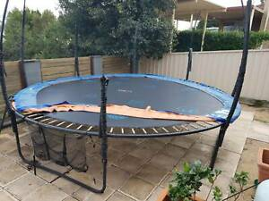 16ft EMOJI TRAMPOLINE $PAID 599 NOW REDUCED FOR QUICK SALE