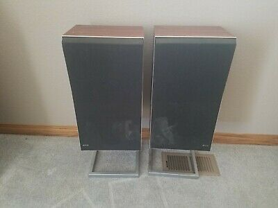 BeoVox S45-2 T6312 Speakers Bang Olufsen B&O Rosewood Speakers + Stands