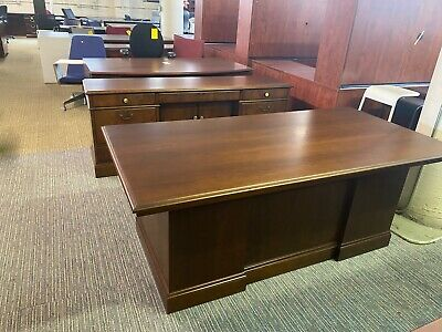 Executive Set Desk Credenza By Jofco Office Furniture In Cherry Wood