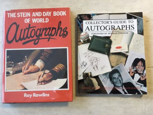 Autograph Reference Book Lot George Sanders and Stein and Day Book of Autographs