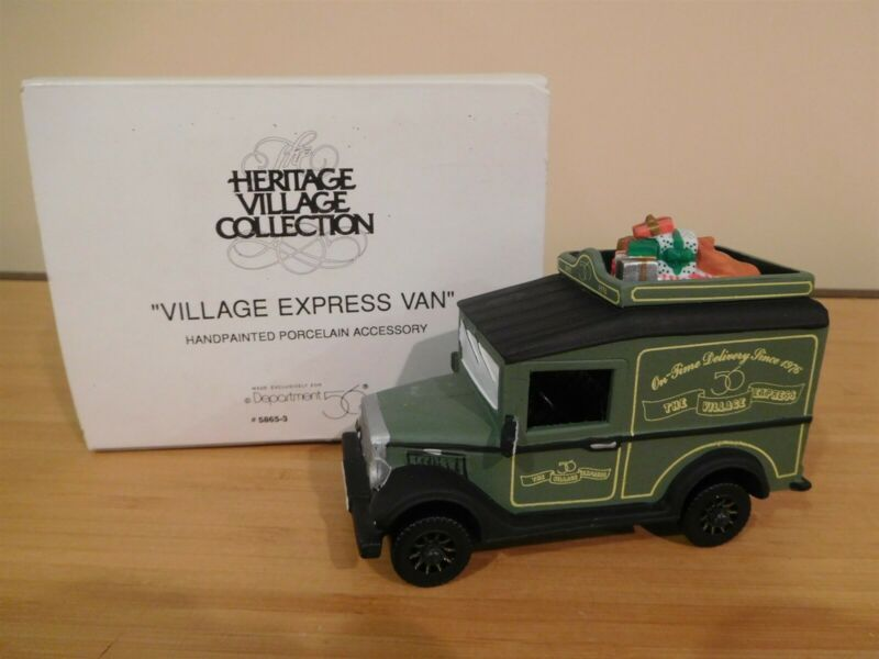 Dept 56 Dickens Village - Village Express Van - Free Shipping