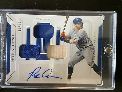National Treasures Pete Alonso Auto Triple Relic Buyback/Rebuy READ DESCRIPTION
