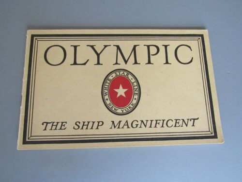 "RMS ""OLYMPIC""- EXTREMELY RARE ORIGINAL INTERIORS BROCHURE- SUPERB! c1920s"