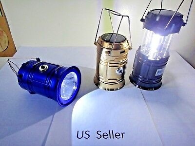2 in 1 Solar Camping Lantern Lamp Portable Outdoor Rechargeable LED Tent Hiking  for sale  Shipping to South Africa