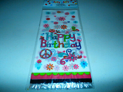 20 Flowers Owl Cellophane Cello Treat Goody Bags Birthday Party Favors with - Owl Treat Bags