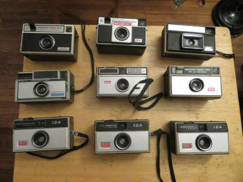 old camera lot kodak camera MAGIMATIC PENNCREST IMPERIAL KODAK 124 junk drawer