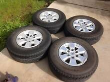 TOYOTA HILUX SR5 GENUINE ALLOY WHEELS AND TYRES Sunshine West Brimbank Area Preview