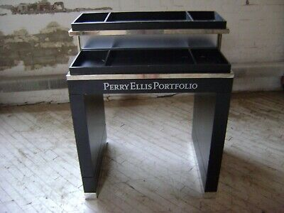 Perry Ellis Black Two Tier Retail Display Merchandiser Table
