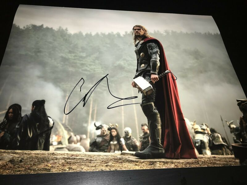 CHRIS HEMSWORTH SIGNED AUTOGRAPH 11x14 THOR AVENGERS INFINITY WAR END GAME COA G