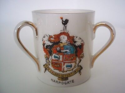 Gemma China Crested Ware Three Handled Cup (Harrogate Coat of Arms)
