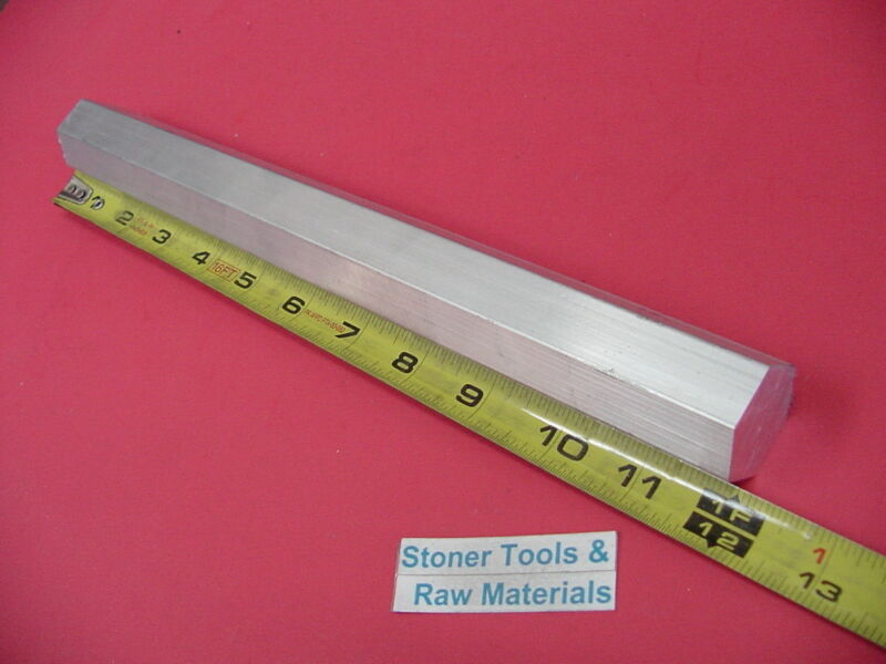 "HEX 1"" ALUMINUM 6061 HEX BAR 12"" long T6511 SOLID Extruded LATHE STOCK"